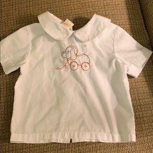 Sir John embroidered puppy shirt